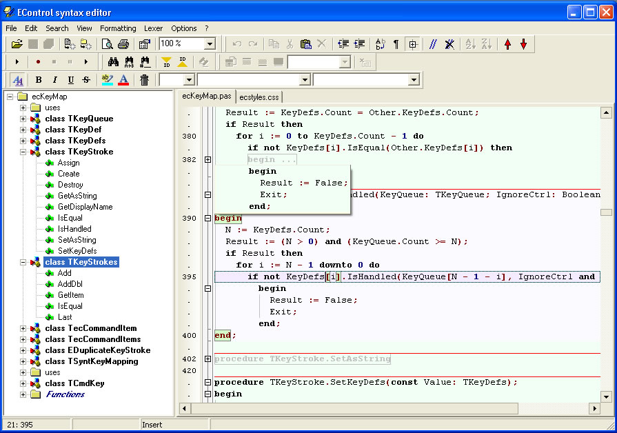 Click to view EControl Syntax Editor 3.00 screenshot